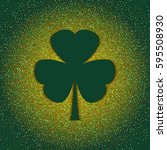 creative shamrock leaf for... | Shutterstock .eps vector #595508930
