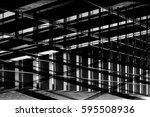 framework of modern building.... | Shutterstock . vector #595508936