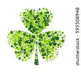 creative shamrock leaf for... | Shutterstock .eps vector #595508948