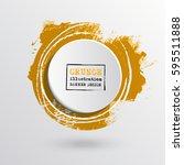 brush ink round stroke on white ... | Shutterstock .eps vector #595511888
