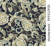 paisley seamless pattern.... | Shutterstock .eps vector #595512920