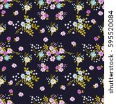 flowery bright pattern in small ... | Shutterstock .eps vector #595520084