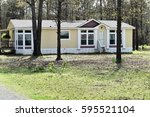 manufactured home | Shutterstock . vector #595521104