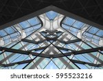 reworked photo of transparent... | Shutterstock . vector #595523216