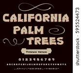 font handcrafted vector script...   Shutterstock .eps vector #595524473