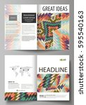 business templates for bi fold... | Shutterstock .eps vector #595540163