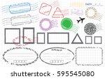 blank label postage stamps set...   Shutterstock .eps vector #595545080