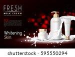 vector bottle cream essence... | Shutterstock .eps vector #595550294