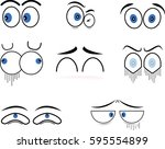 cartoon eyes in vector | Shutterstock .eps vector #595554899