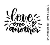 love one another. beautiful... | Shutterstock .eps vector #595562078
