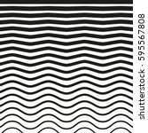 black and white striped lines.... | Shutterstock .eps vector #595567808
