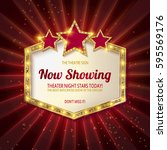 now showing. showtime retro... | Shutterstock .eps vector #595569176