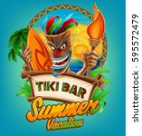 summer banner with native | Shutterstock .eps vector #595572479