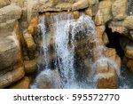 Fake Rock Waterfall  Closeup O...