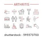 arthritis. symptoms  treatment. ... | Shutterstock .eps vector #595573703