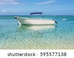 blue water and motor recreation ...   Shutterstock . vector #595577138
