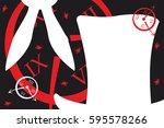Stock vector alice in wonderland background vector illustration 595578266