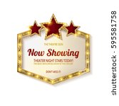 now showing. showtime retro... | Shutterstock .eps vector #595581758