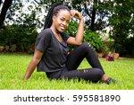 Girl In Green Garden Outside I...