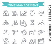 time management concept icons ... | Shutterstock .eps vector #595581926