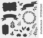 vector frame shapes  banner and ... | Shutterstock .eps vector #595584260