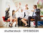 successful busines team... | Shutterstock . vector #595585034