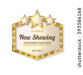 now showing. showtime retro... | Shutterstock .eps vector #595586168