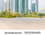 street scene in guangzhou china. | Shutterstock . vector #595594490