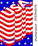 fourth of july  usa... | Shutterstock .eps vector #595594574