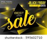 black friday night sale... | Shutterstock .eps vector #595602710