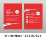 vector template design. red... | Shutterstock .eps vector #595607816