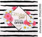 mother's day sale background...   Shutterstock .eps vector #595623983