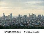 cityscape of manila ... | Shutterstock . vector #595626638