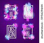 vector frame for text modern... | Shutterstock .eps vector #595629644