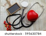 blank blackboard  stethoscope