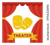 theater of drama and comedy.... | Shutterstock .eps vector #595632890