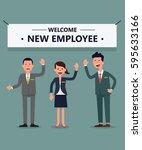 welcome new employee | Shutterstock .eps vector #595633166