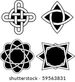 set with celtic designs. vector. | Shutterstock .eps vector #59563831