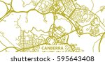 detailed vector map of canberra ... | Shutterstock .eps vector #595643408