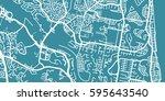 detailed vector map of gold... | Shutterstock .eps vector #595643540