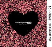 floral heart shape vector... | Shutterstock .eps vector #59564401