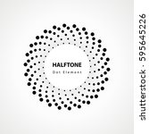 black abstract vector circle... | Shutterstock .eps vector #595645226