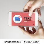 message letter e mail chat... | Shutterstock . vector #595646354