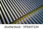 solar energy farm. high angle... | Shutterstock . vector #595647134