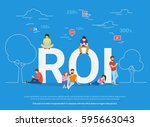 roi vector illustration of... | Shutterstock .eps vector #595663043