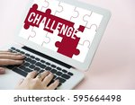 challenge competition word... | Shutterstock . vector #595664498