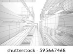 abstract white interior... | Shutterstock . vector #595667468