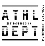 athletic sport brooklyn... | Shutterstock .eps vector #595678088