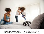 beautiful african american...   Shutterstock . vector #595683614