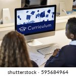 academy certification... | Shutterstock . vector #595684964
